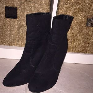 COPY - Just Fab Ankle booties black zipper back s…